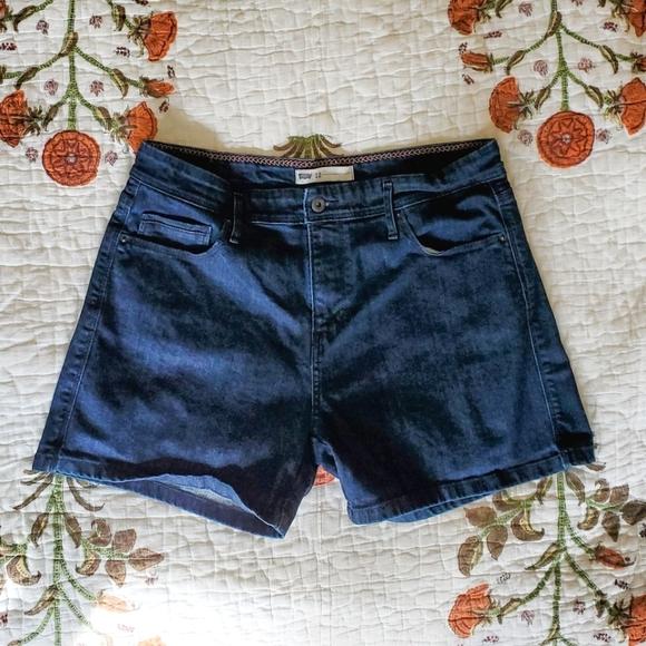 Levi's Denim Jean Shorts, Sz 12, EUC